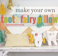 make your own tooth fairy pillow | the handmade home