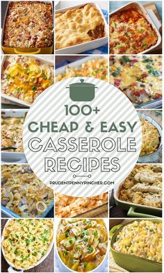 Make an easy dinner on a budget with these cheap and easy casserole recipes. From healthy casseroles to southern comfort food casseroles, there are plenty of casserole recipes for dinner to choose from. Healthy Casserole Recipes, Easy Healthy Recipes, Vegetarian Recipes, Cooking Recipes, Cheap Recipes, Cooking 101, Easy Recipes For Two, Delicious Recipes, Easy Casserole Dishes
