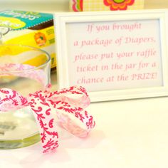 Diaper raffle - instead give a ticket to whoever brings them at the shower. That way no one 'has to' get you any.