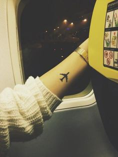 Airplane tattoo tumblr ✈ - Tattoos and Tattoo Designs