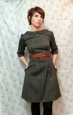 Peony dress with Peter Pan collar - I NEED TO MAKE THIS! Out of flannel. Lined. In RED plaid.