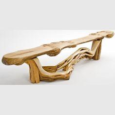 Log Cabin Builder - Juniper Log Bench