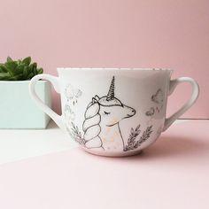 Porcelanas contemporâneas pintadas à mão - Estúdio Pamelitas
