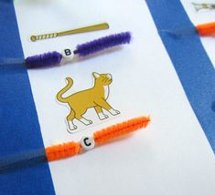 Alphabet Bead Spelling - practice fine motor skills and spelling