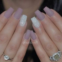 Your nails will appear fabulous! In general, coffin nails are also thought of as ballerina nails. Cute pastel orange coffin nails are amazing if you want to continue to keep things chic and easy. Marble nail designs are perfect if… Continue Reading → Gorgeous Nails, Pretty Nails, Hair And Nails, My Nails, Glitter Nails, Long Nails, Nude Sparkly Nails, Lilac Nails With Glitter, Coffin Nails Short