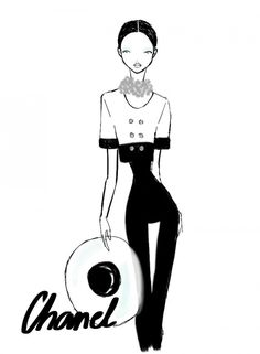 Rei Nadal sketches live from the Chanel show - Paris Womenswear S/S 2013 - SHOWstudio - The Home of Fashion Film