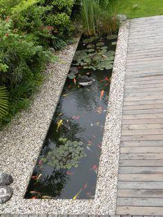 √top 45 best backyard pond ideas – outdoor water feature designs page 20 Small Backyard Ponds, Small Backyard Design, Pond Design, Large Backyard, Landscape Design, Garden Design, Outdoor Fish Ponds, Small Patio, Outdoor Pool
