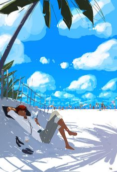 ⌨LIFE IS A BEACH SOMETIMES by Pascal Campion⌨ #pascalcampion #paintings #artwork