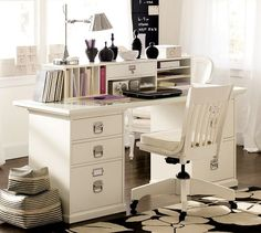 Would love to extend the desk one more unit for the boys. Bedford Rectangular Desk Set | Pottery Barn
