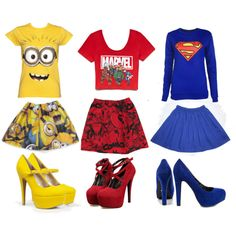 OMG!!!! If the Superman one wasn't long sleeved and had a cute pair of Converse, I'd totally buy it!!!!