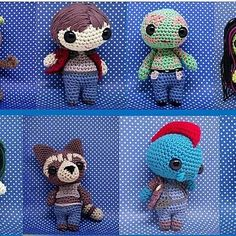 Full set of Guardians of the galaxy amigurumi patterns is now available link in bio #crochet #amigurumi #amigurumilove #crochetpattern #amigurumitoy #amigurumianimal #crochetlove #amigurumis #amigurumi #amigurumipattern #amigurumilove #amigurumipattern #g