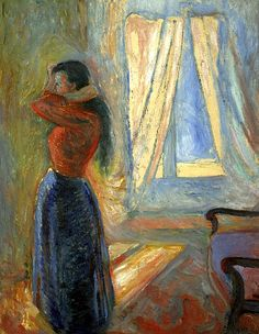 Woman looking in the Mirror, Edvard Munch - 1892