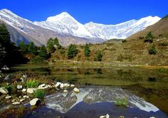 TT lake with Dhaulagiri, Kunjo Mustang, Nepal