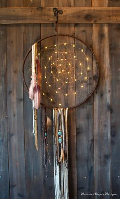 Copper Lights  lighted Dreamcatcher by DreamShaperDesigns on Etsy