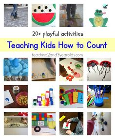Teaching Kids to Count - Over 20 playful ways to help preschoolers learn their numbers, from Teaching 2 and 3 Year Olds.