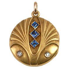 Art Nouveau Jewelry | Charming Art Nouveau Locket at 1stdibs