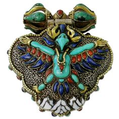 Ethnic Jewel Buddhist Ga'u with Garuda