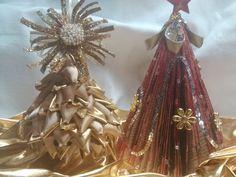 DIY Pinito de navidad hecho con materiales reciclados/ Christmas Tree us...