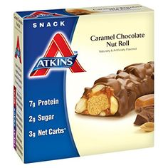Once you try this combination of caramel and peanuts covered in chocolate, you'll never miss your favorite candy bar again. THE ATKINS LIFESTYLE – The Atkins Diet and Lifestyle is the original leading low-carb plan that provides quick, effective, and balanced weight loss by limiting c... more details at http://supplements.occupationalhealthandsafetyprofessionals.com/weight-loss/bars-snacks/product-review-for-atkins-snack-bars-caramel-chocolate-nut-roll-1-5-ounce-5-cou