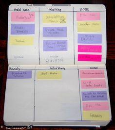 Moleskin WIP (work in progress) Agile style planner