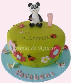Panda Garden Cake