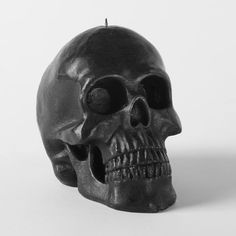 Black Skull Candle, Extra Large