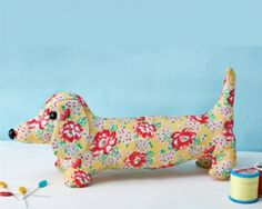1950's Sewing - Dave The Dachshund Doorstop