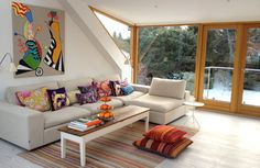 Cosy family sofa contemporary living room--- I think I could build this with #pallets !