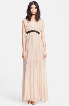 Alice + Olivia Deep V-Neck Maxi Dress // from @nordstrom