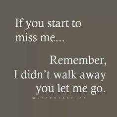 If you miss me...