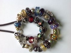 Glowing  pansy along other great beads!  From a collector from the UK on our Trollbeads Gallery Forum!