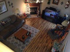 Living room Allan & Roth Handscraped Lodge Oak