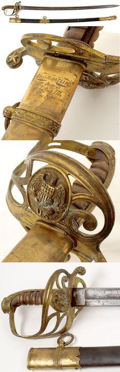 CIVIL WAR SECOND ILLINOIS PRESENTATION SWORD, Sept, 1862 .