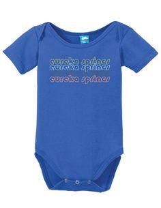 Eureka Springs Arkansas Retro Onesie Funny Bodysuit Baby Romper