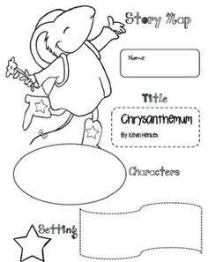 GREAT for the beginning of the year! Free Chrysanthemum Story Map from The 3 am Teacher