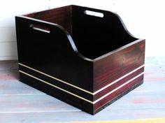 Record crate LPM storage Storage crate by LanganCustomWoods