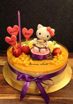 hello kitty mango mousse cake