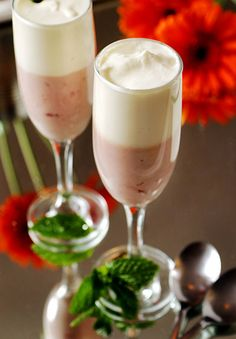 POM Pomegranate Mousse with White Chocolate Mousse Layer