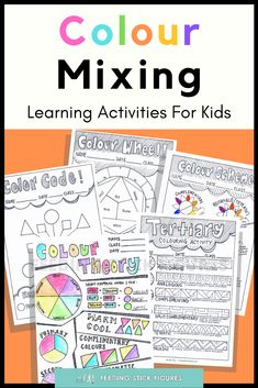 Kids will love any one of these #printable colouring #activities! This helps children,3 students, and #homeschoolers learn the basics of colour theory and colour mixing / the color wheel. It has vocabulary included to learn about #primary, secondary, tertiary, and monochromatic colours. #colourmixing #colours #learningcolors Printable Activities For Kids, Kids Learning Activities, Color Activities, Student Learning, Art Projects For Teens, School Art Projects, Primary School Art, Art School, Coloring For Kids