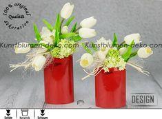 Design Dekoration mit weißen Tulpen