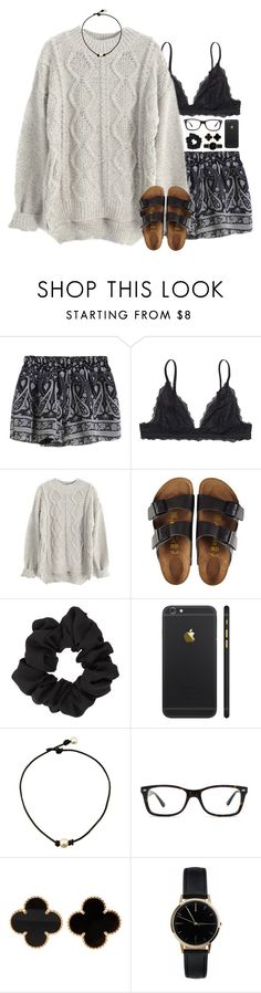 """""""i want summer back"""" by sarahc01 ❤ liked on Polyvore featuring Monki, Birkenstock, Miss Selfridge, Ray-Ban, Van Cleef & Arpels and Freedom To Exist"""