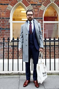 Dan Rookwood at London Collections: Men. Street Style.