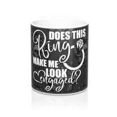 Excited to share this item from my shop: Does This Ring Make Me Look Engaged? Black Skulls Mug - Bridal Announcement, Bridal Shower Gift, Goth Bride