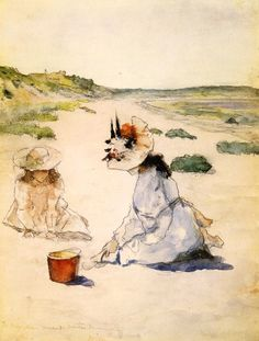 On the Beach, William Merritt Chase 1895.