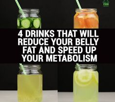 4 Natural Drinks That Will Reduce Belly Fat and Speed Up Your Metabolism | Bewellhub