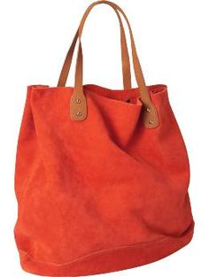 Suede tote from Gap