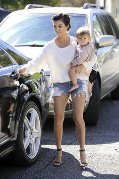 Kourtney Kardashian with Penelope Disick Playdate Style
