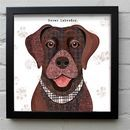 Brown Labrador Dog Print