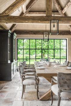 Cosy Dining Room, Cottage Dining Rooms, Dining Room Design, Conservatory Dining Room, Homes England, European Style Homes, Woodland House, Pole Barn House Plans, Barn Renovation