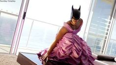 Nailed it.   Disney Princess Batman Is Your New Favorite Cosplayer